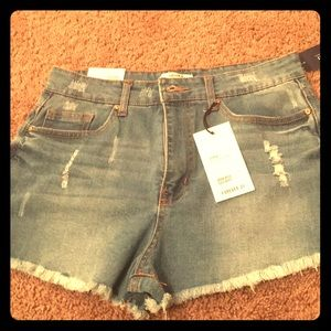 Forever 21 cut off Jean shorts